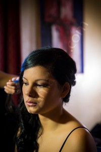 Portrait photographer in Rome Italy during a wedding preparation