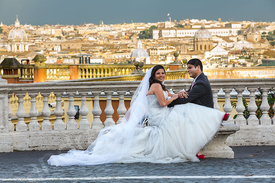 Wedding photography shoot at Gianicolo Rome Italy