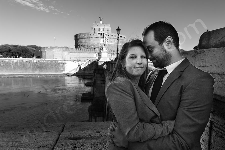 B&w photo session at Castello Sant'Angelo