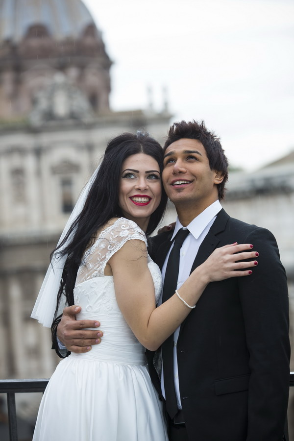 Happily married together in Rome Italy