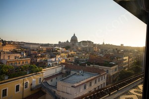 Overview of the city of Rome Italy