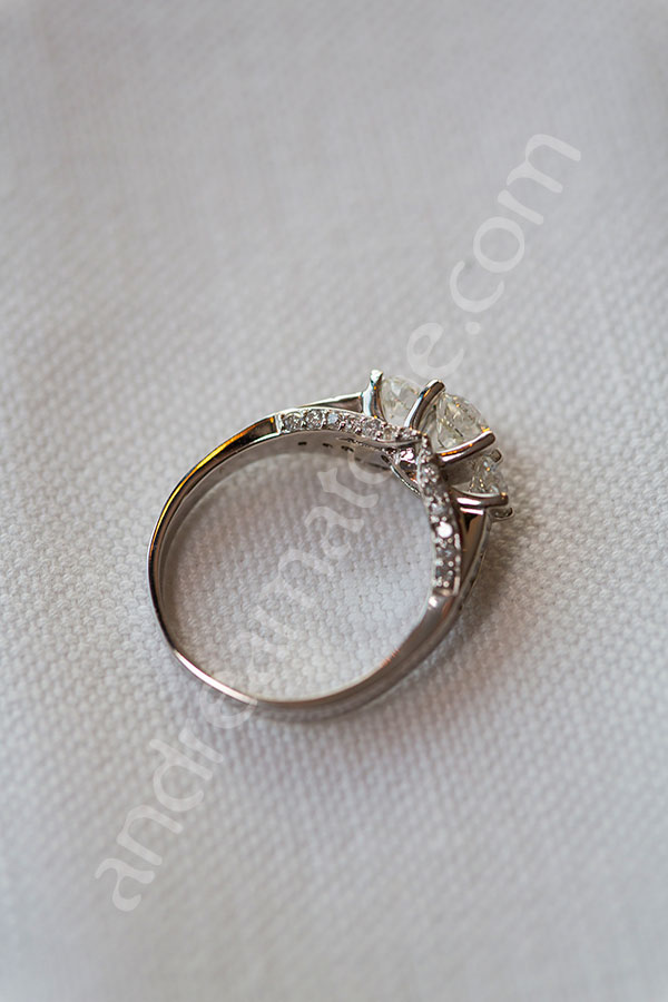 Close up photography of the engagement ring