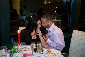 Wedding proposal photographed ring exchanged