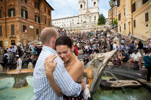 Photo session at the Spanish steps in Rome