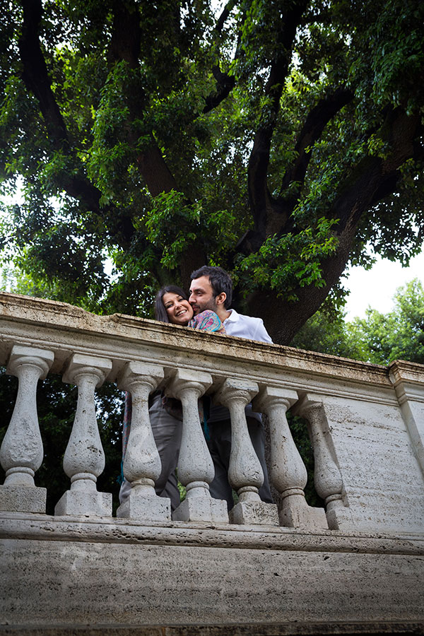 Surprise wedding proposal at Parco del Pincio