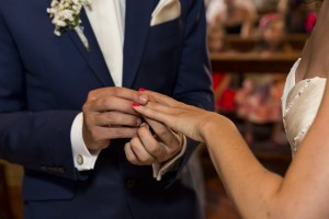 Close up of the ring exchange