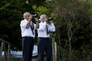 Photographers taking pictures at a wedding