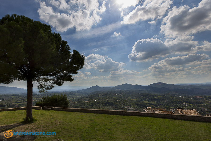 The view from Castello Savelli Lazio Italy.