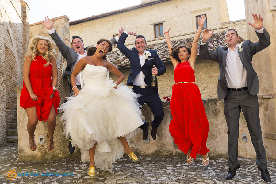 Fun pictures of the bridal party