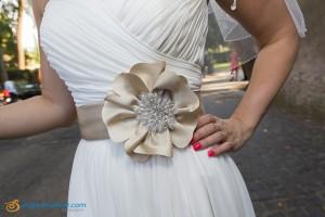 Wedding bride dress close up