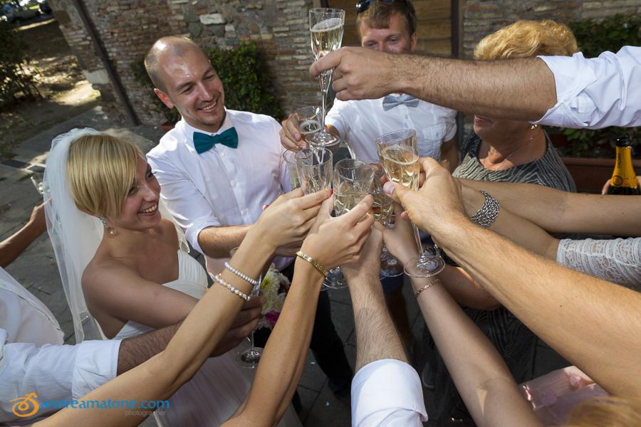 A wedding toast