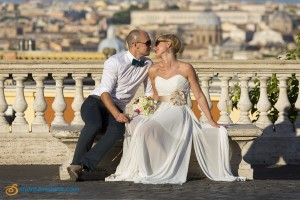 Great wedding pictures in Rome Italy