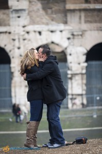 She said yes! At the Roman Colosseum.