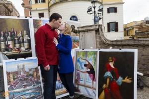 Pictures taken at Church Trinita' dei Monti in Rome Italy