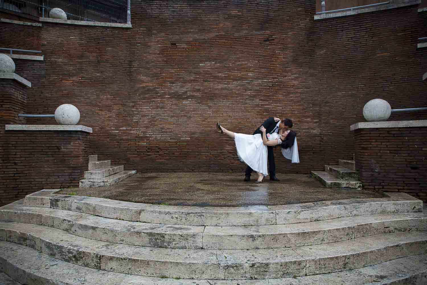Photography session in Rome after a Wedding