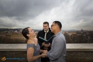 Photos of the Wedding Vow Renewal photographed in Giardino degli Aranci in Rome