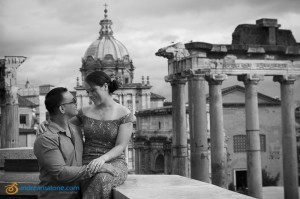 Wedding Photography at the Roman Forum in Rome