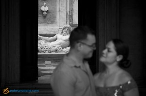 Black and White wedding photography session in Rome
