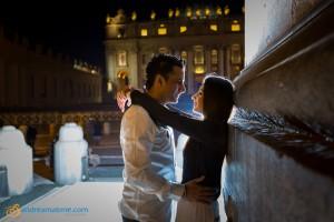 Night time photos in Rome. Pre Wedding photographer Rome.
