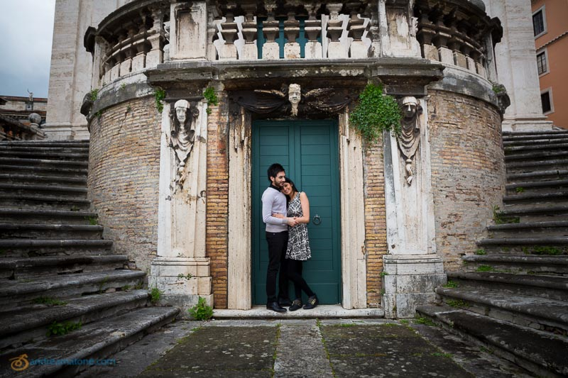 Couple at Chiesa San Domenico e Sisto.