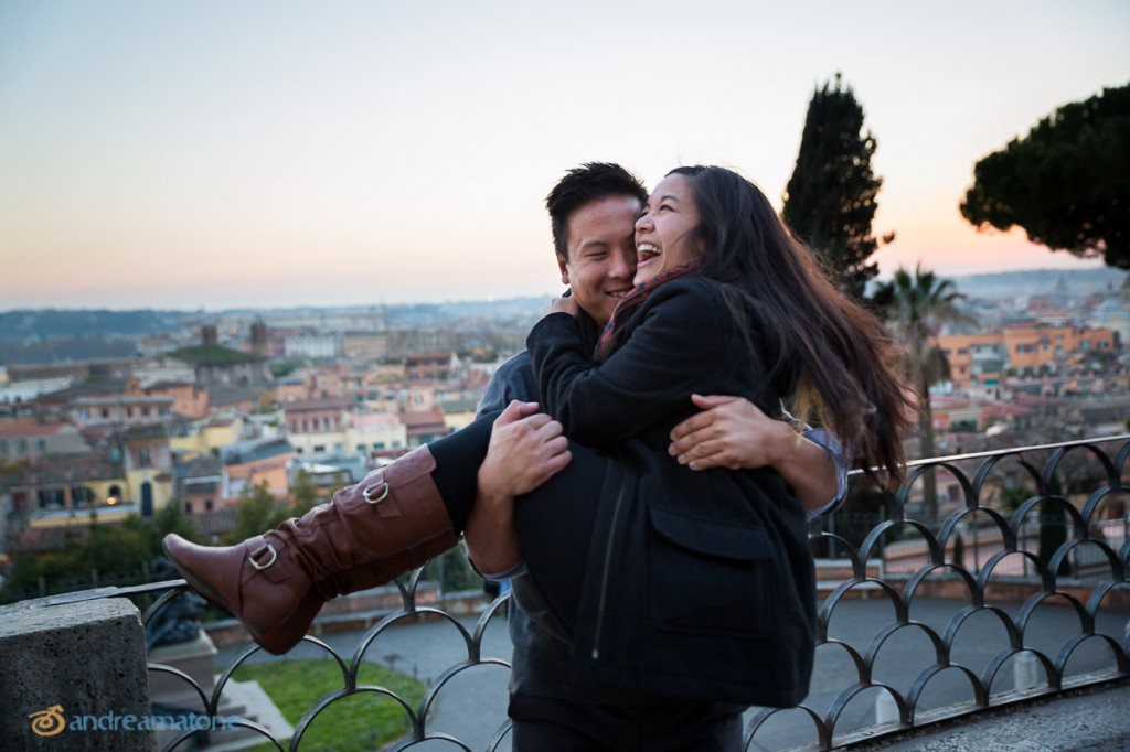 Rome Surprise Wedding Proposal Photography. Spontaneous and Candid.