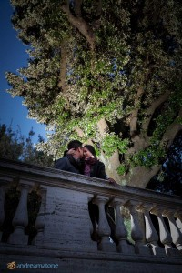 Engagement Photography from Rome Italy. Image taken during a Surprise Proposal.