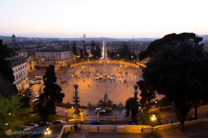 A view of Piazza del Popolo from above.