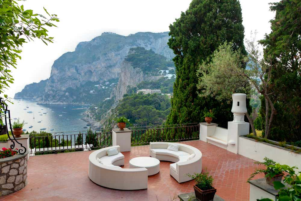 Villa coastal view island of Capri Italy