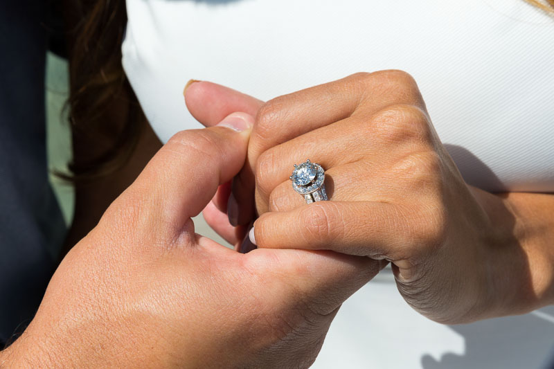 Close up image of the engagement ring