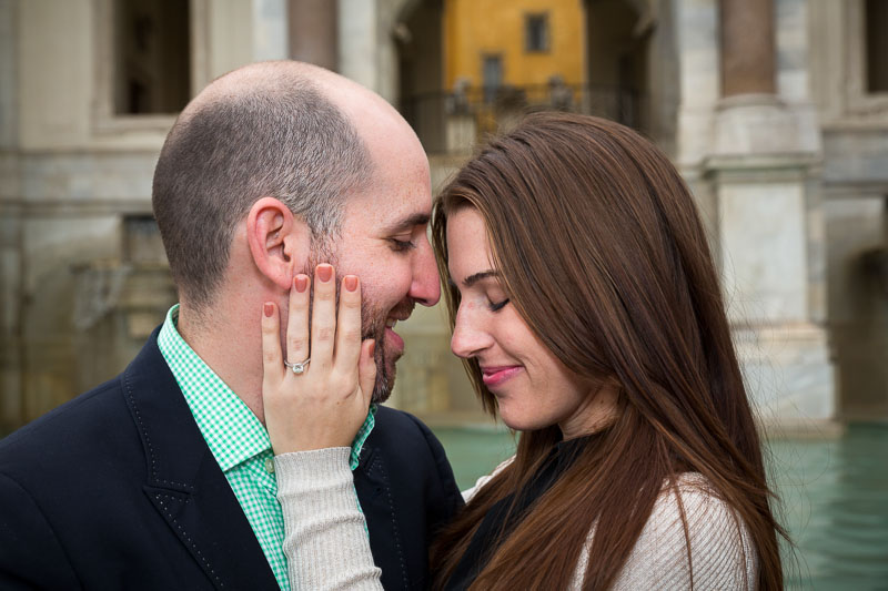 Up close with an engaged couple during their photography session