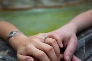Engagement ring closeup