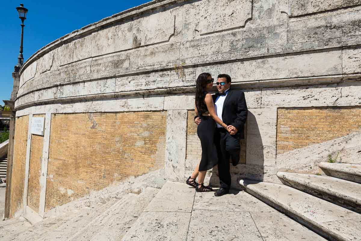 Anniversary session at the Spanish steps