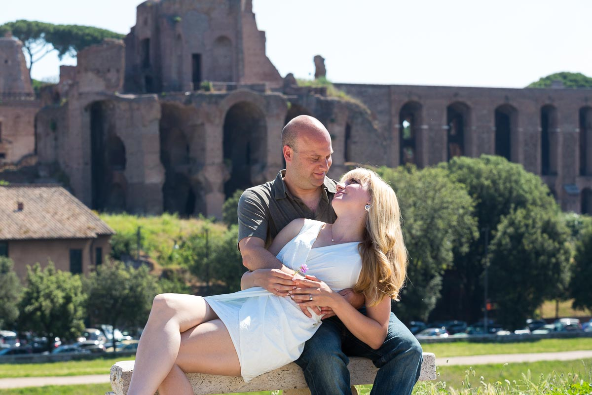 Circus Maximum and the Palatine hill during an e-session.