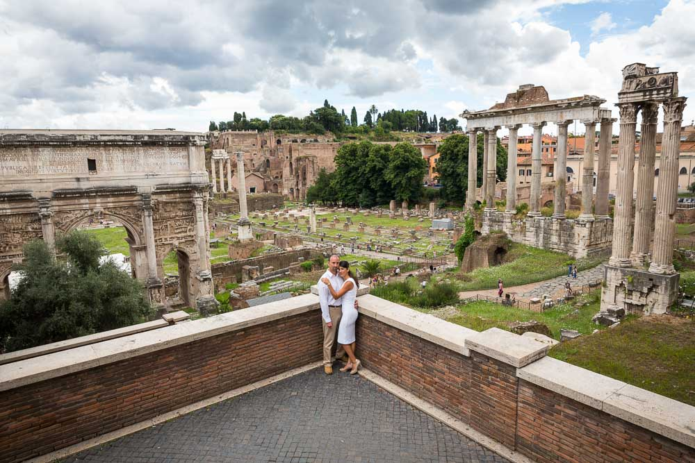 View of the Roman Forum from above taken during a photography session in Rome