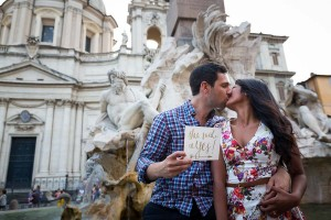 She said yes! Great proposal ideas in Rome.