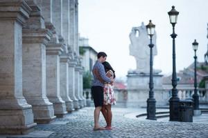 Romantic couple photoshoot in Rome Italy