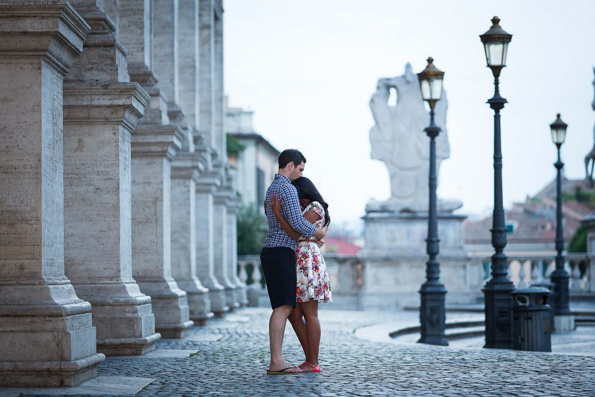 Romantic couple photoshoot in Rome Italy
