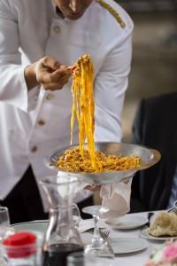 Fettuccine Italian food.