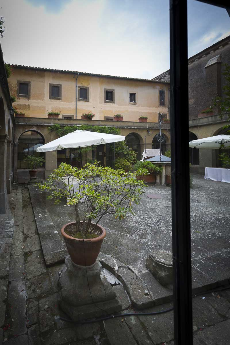 Villa Palazzola internal courtyard.