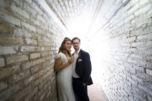 Wedding photography service. Back light.