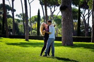 Dancing in Park Villa Borghese.