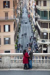 The view of the Via condotti in the far distance
