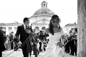 Wedding photography in black and white. Ariccia, Italy.