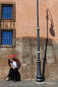 Couple engagement style session at the Vatican.