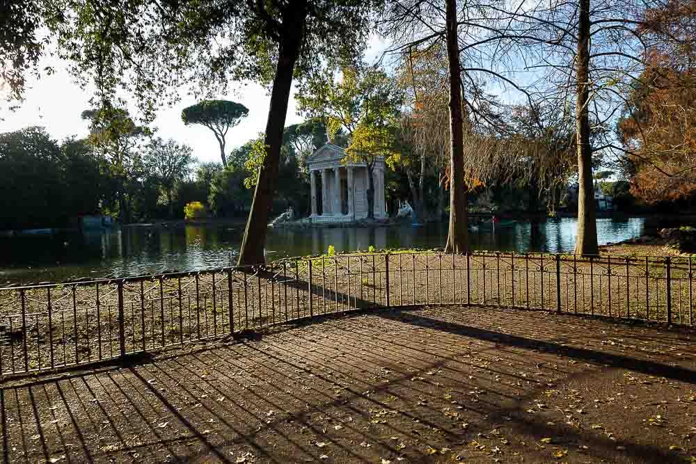Laghetto di Villa Borghese. Lake. Rome, Italy.