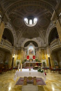Interior picture of the Sant'Anna Church in the Vatican city in Rome.