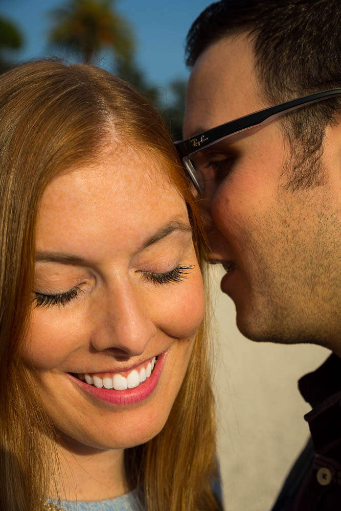 Close up image of a couple in love