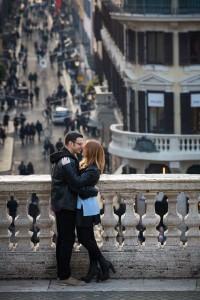 View of via Condotti from the terrace of Piazza di Spagna