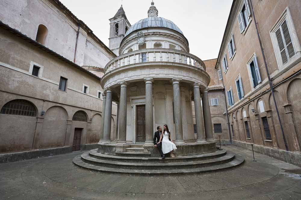 Overview of the small temple Bramante found in Rome. Andrea Matone photography.