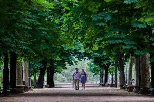 Villa Borghese engagement session